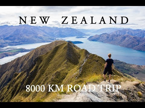 NEW ZEALAND ROAD TRIP - 8000 km - EPIC TRAVEL VIDEO - BACKPACKING