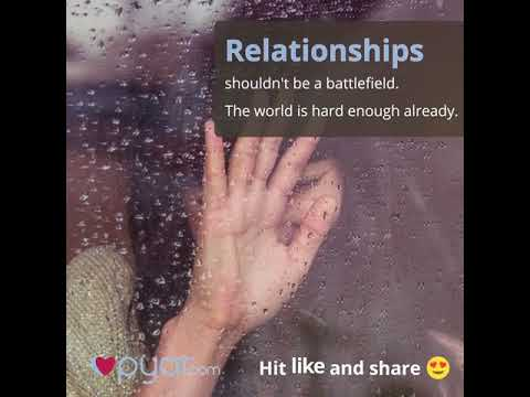 Relationships Shouldn't be a Battlefield