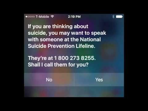 Hey Siri, I'm Depressed.