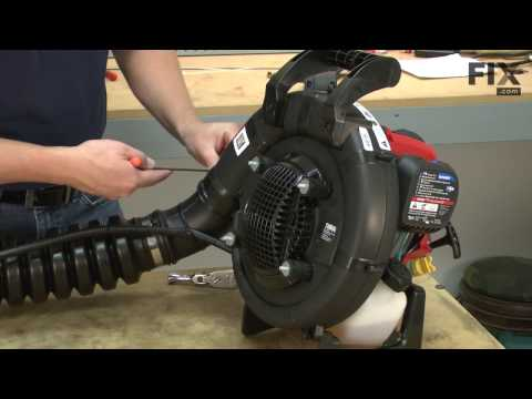 Troy Bilt Backpack Blower Repair - How to Replace the Throttle Cable