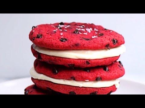 Red Velvet Nutella Cookie Sandwiches!