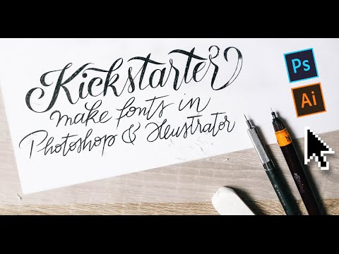 Make fonts in minutes with Photoshop & Illustrator