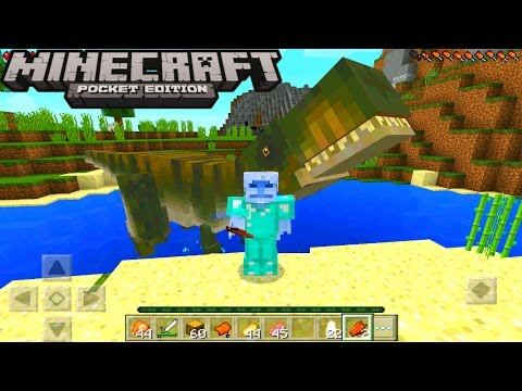 Minecraft Pe - How To Spawn A T Rex And Tame A T Rex - Minecraft Pocket Edition!!!