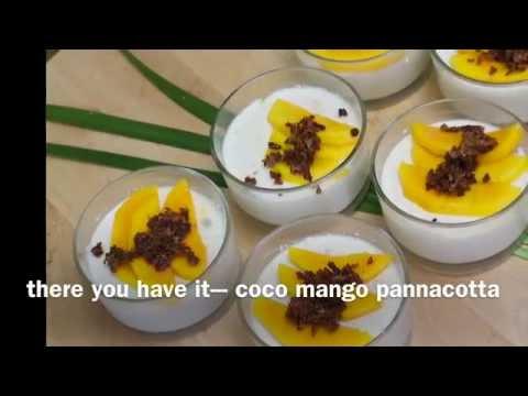 coco mango pannacotta