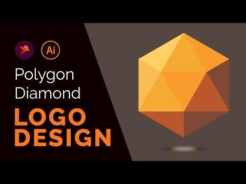 Polygon Diamond Logo Design Tutorial in Adobe illustrator CC 2018
