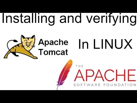 Installing and verifying apache tomcat in linux