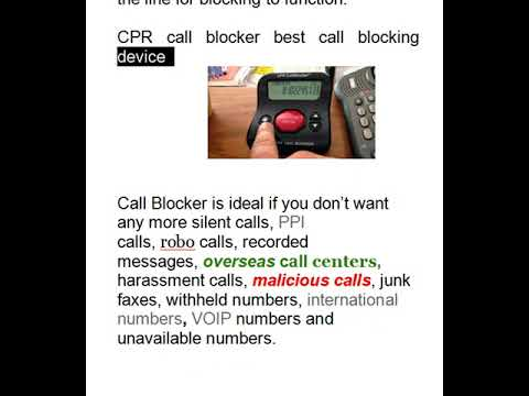How to STOP SCAM CALLS on Landline -- Benefits of call blocker!!!!