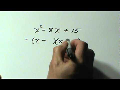 Factoring Trinomials - Part 1 (Grade 10)