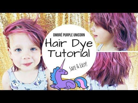 TUTORIAL: DIY Dyed Purple / Pink Unicorn Hair | ON A KID!