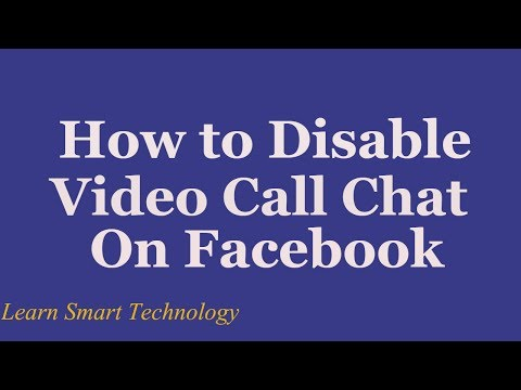 How to Disable Video Call Chat On Facebook : Facebook 2016