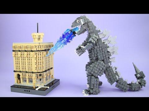 How to Build the Ginza Wako Building and Godzilla Update | Custom LEGO Ideas Kaiju