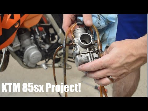 Dirt Bike Project -- 2004 KTM 85sx Part 2 - Carb cleaning and