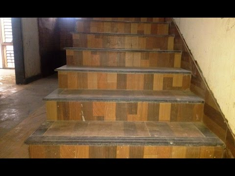Budget Simple & Nice Staircase Design with Color Tiles