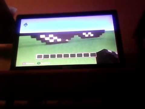 Minecraft- How to make the MLG thug life glasses or the deal with it glasses tutorial.