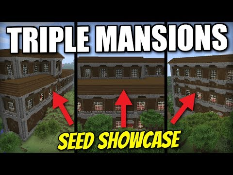 Minecraft Xbox One - TRIPLE WOODLAND MANSION [ Seed Showcase ] TU54 - PS4 / Switch