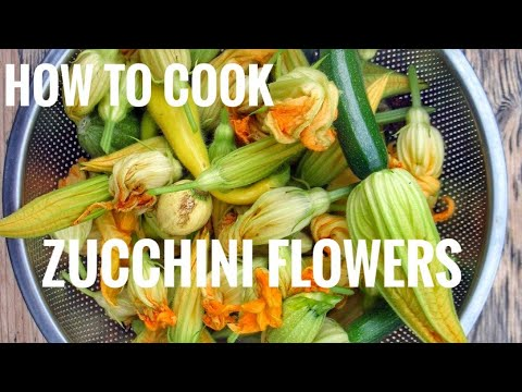 How to cook zucchini flowers