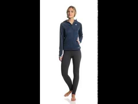 Adidas Women's Hiking/Trekking 1 Sided Fleece Running Hoodie | SwimOutlet.com