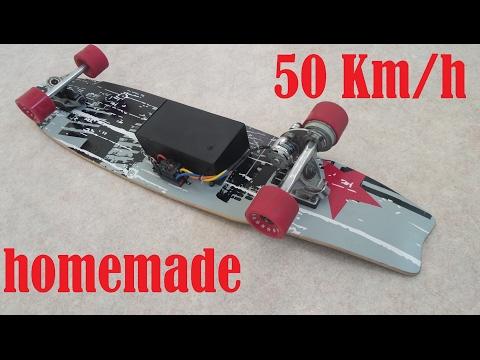 50KM/H ELECTRIC LONGBOARD HOMEMADE  !