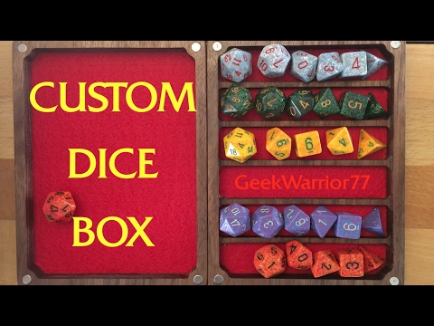 The dice must flow!  Custom Dice box and rolling tray combo