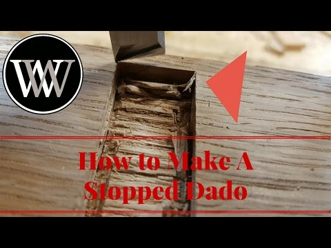 How To Make a Stopped Dado With Just Hand Tools - Woodworking Joint