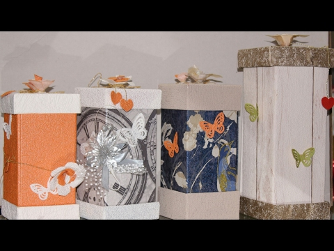 Diy Gift box Use by wallpaper/wast paper!!! Ft.sneh gift