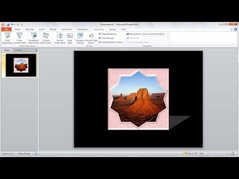 Tutorial powerpoint 2010 |Cara Membuat Bingkai Foto dengan Shapes di Powerpoint