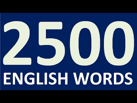2500 ENGLISH WORDS for speaking English fluently - how to Learn English speaking easily