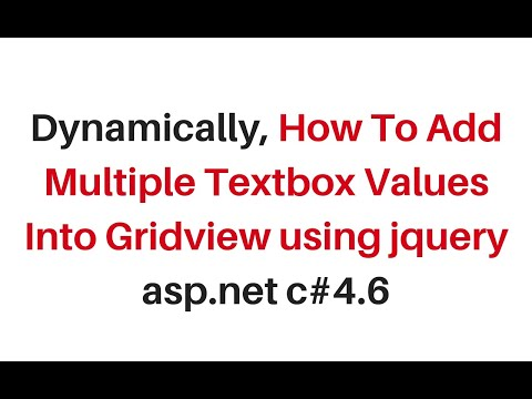 dynamically add multiple textbox using jquery gridview c#4.6