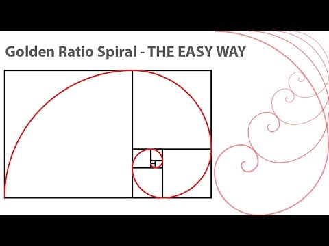 How to create Golden Ratio spiral in Illustrator Tutorial the easy way