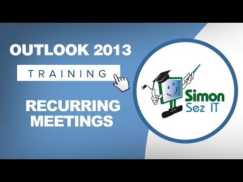 Microsoft Outlook 2013 Tutorial - Recurring Meetings in Calendar