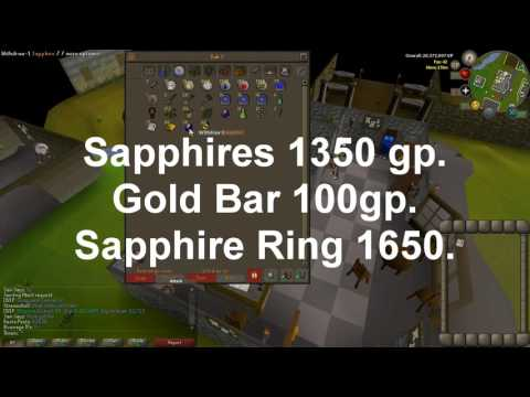 OSRS : Money Making Guide : (F2P) & (P2P) Sapphire Rings. 250K GP/HR & 50K CRAFT XP/HR. 2017.