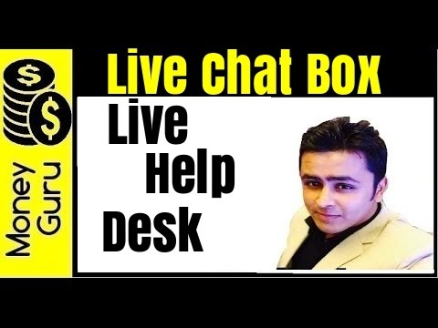 How To Add Live Chat Box On Your Website - Live Help Desk Supprt !