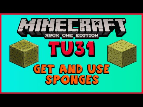 ☞★⚒Minecraft: TU35/CU23 HOW TO GET SPONGES IN SURVIVAL + LOCATIONS (Xbox One/PS4/PS3/360/Wii U) ⚒★