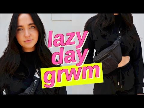 lazy day get ready with me   lazy day morning routine
