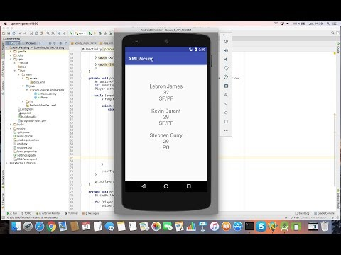 Learn to Parse XML Data  on Android Studio