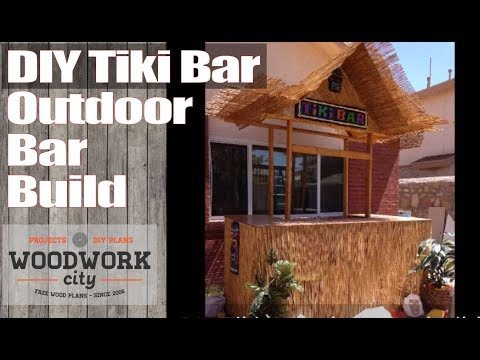 DIY Tiki / Outdoor Bar Project