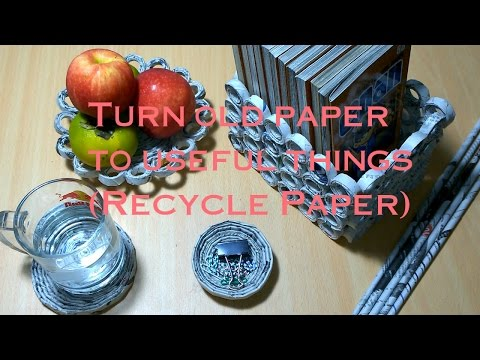 Turn Old Paper to Amazing Things - Recycle Newspaper