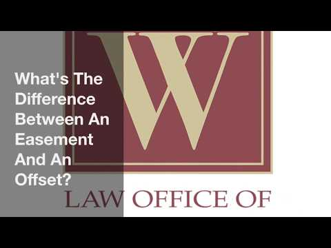 What's The Difference Between An Easement And An Offset?