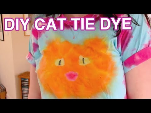 How to Cat Shaped Tie Dye!