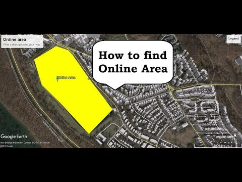 how to find land area online/ google earth