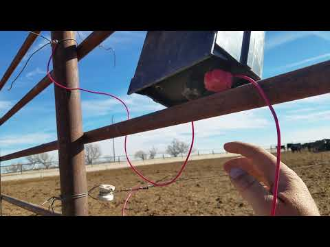 Setting up Electric Fence in my Feedpens