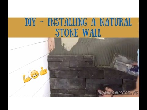 How To Install a Dry Stack Stone Wall Tile - Handy Home Owner