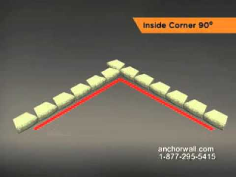 How to Install a Retaining Wall Inside 90 Degree Corner