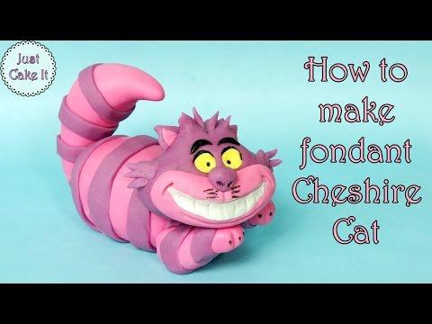 How to make fondant Cheshire Cat / Jak zrobić figurkę kota z Cheshire