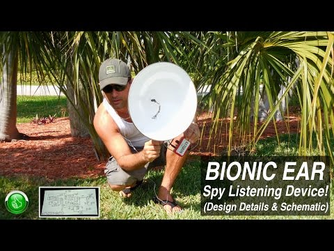 BIONIC EAR ~ Spy Listening Device(FULL Design Details)