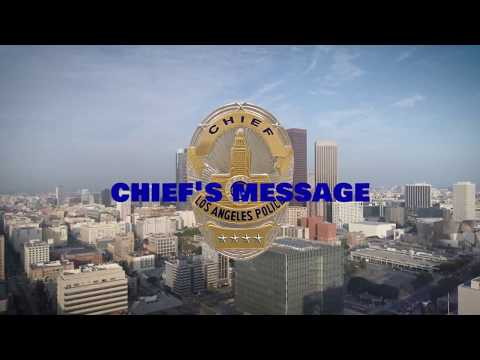 LAPD Reserve Chief Beck's Message to Reserve Officer of the Year Banquet 2018