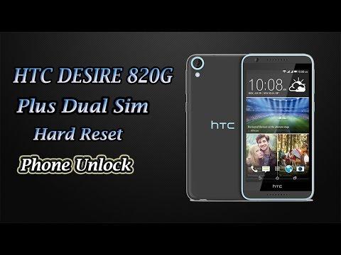 HTC Desire 820G Plus Dual Sim Hard Reset   Phone Unlock   Pattern Unlock   Pin Unlock  