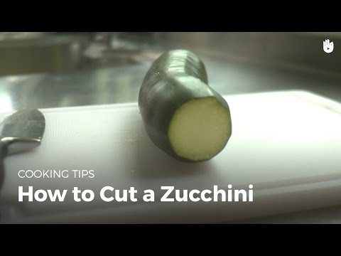 How to cut a zucchini | Cook Vegetables