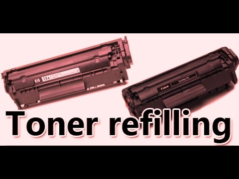 How to Refill canon LBP 2900  toner cartridge