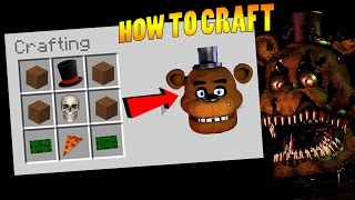 HOW TO SUMMON FREDDY FASBEAR IN MINECRAFT CRAFTING TABLE (Fnaf Gone Wrong!)